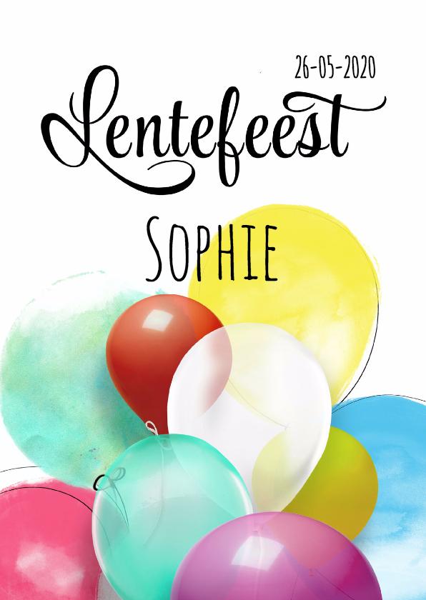 Lentefeest ballonnen SG 1