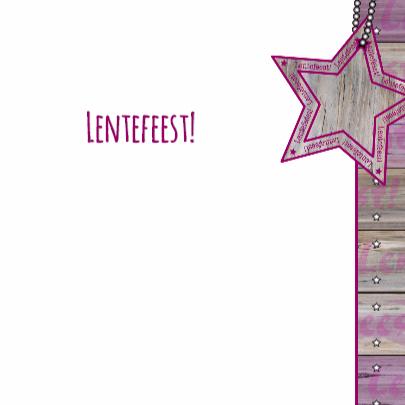 Lentefeest! stoer roze  4knt 3