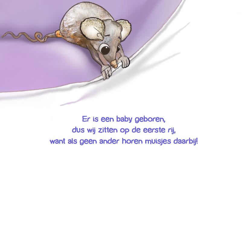 Leuk geboortekaartje met muisje! 2