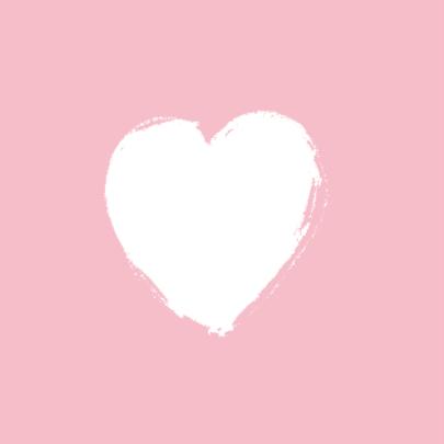 Lief geboortekaartje roze hartje 2