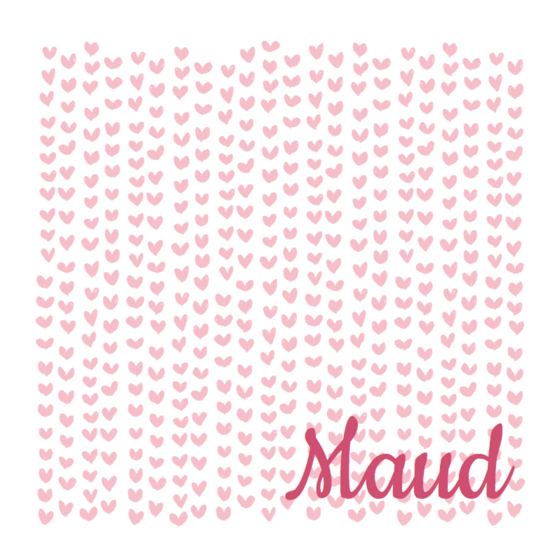 Lief geboortekaartje roze hartje 1