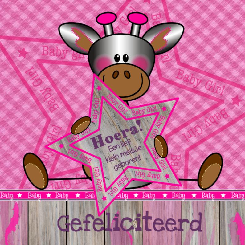 Lief meisje GIRAFFE felicitatie 1