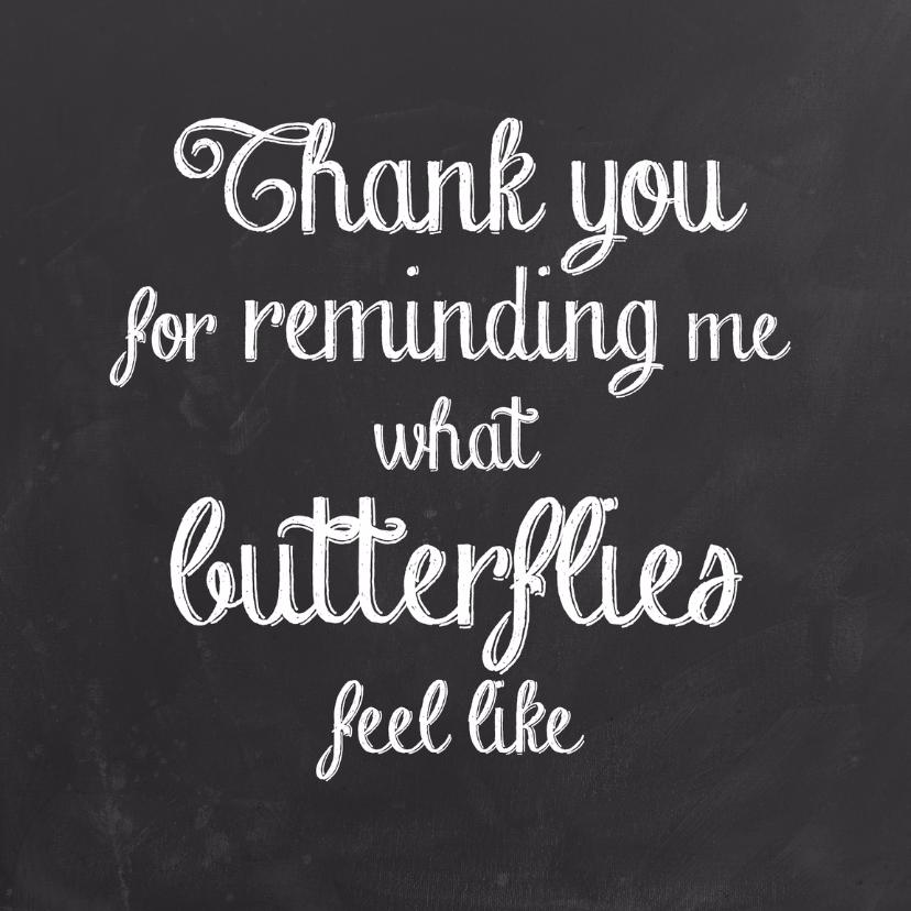 Liefde kaart butterflies