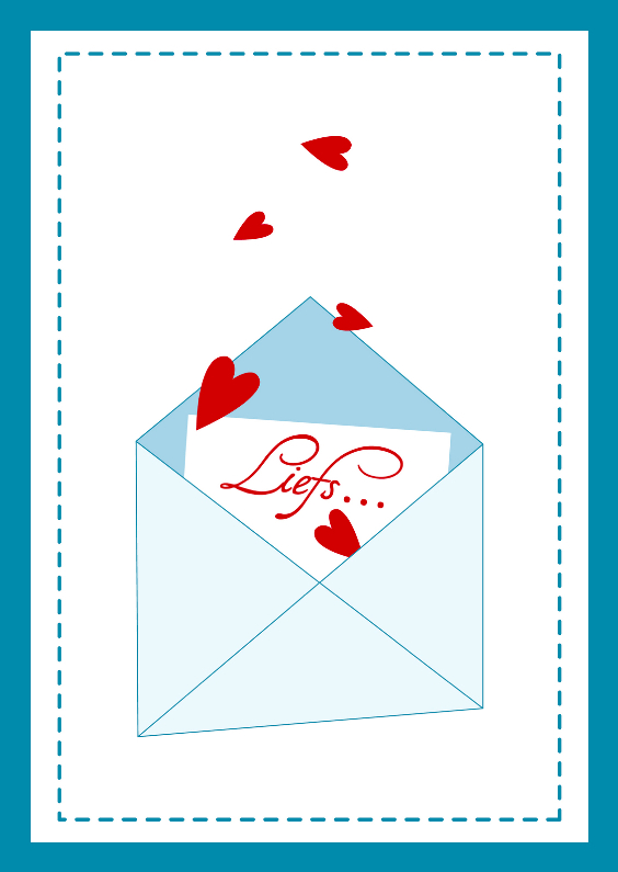Liefs kaart enveloppe 1
