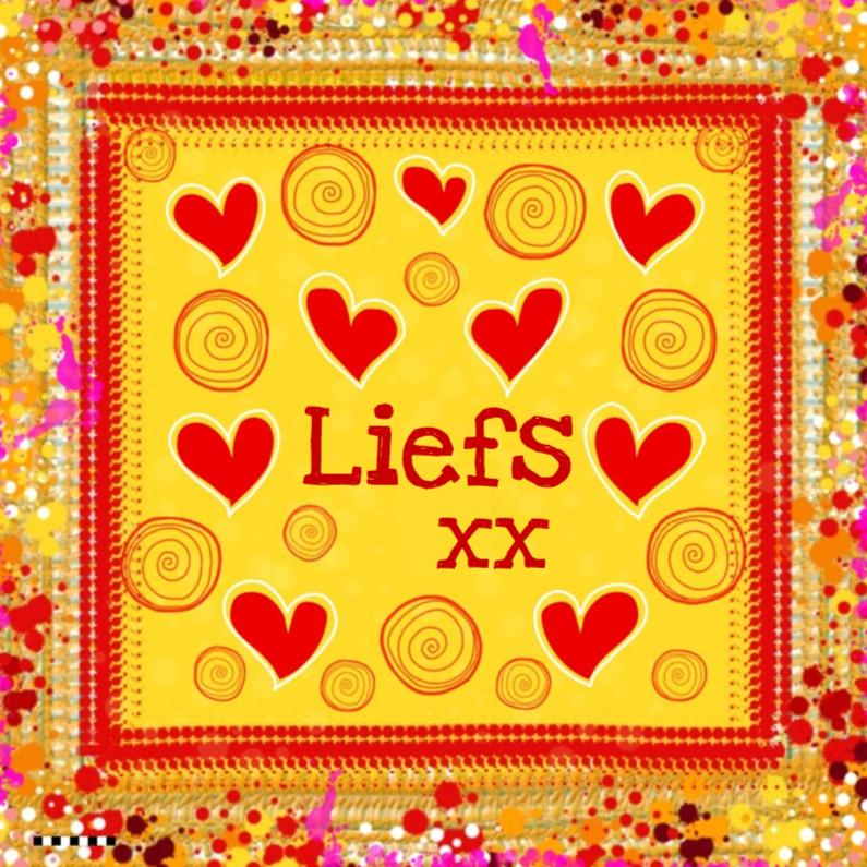 Liefs kleurrijk rode hartjes 1