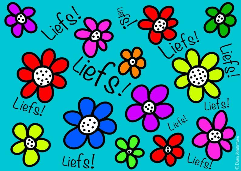 Liefs kleurrijke bloemetjes 1
