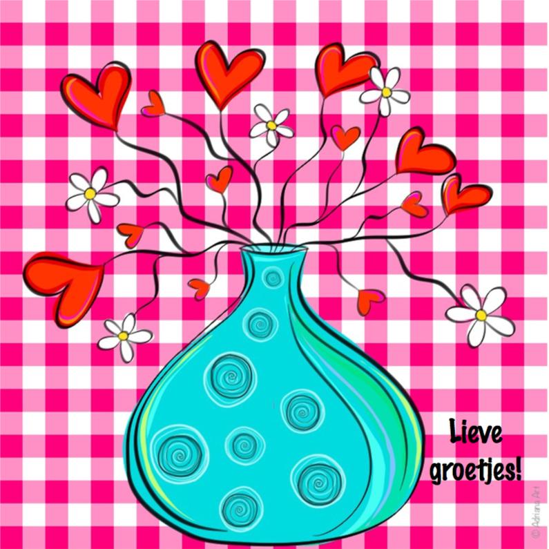 Lieve groetjes ruitjes hartjes 1