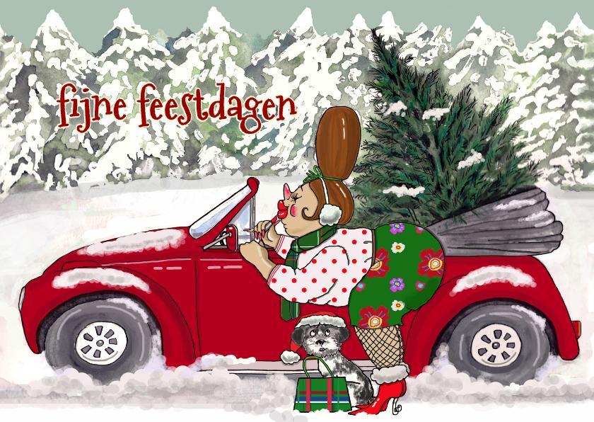 Lippen stiften auto kerstboom 1