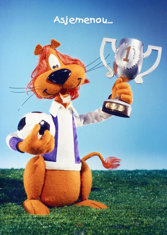 Loeki de Leeuw voetbal kampioen 1