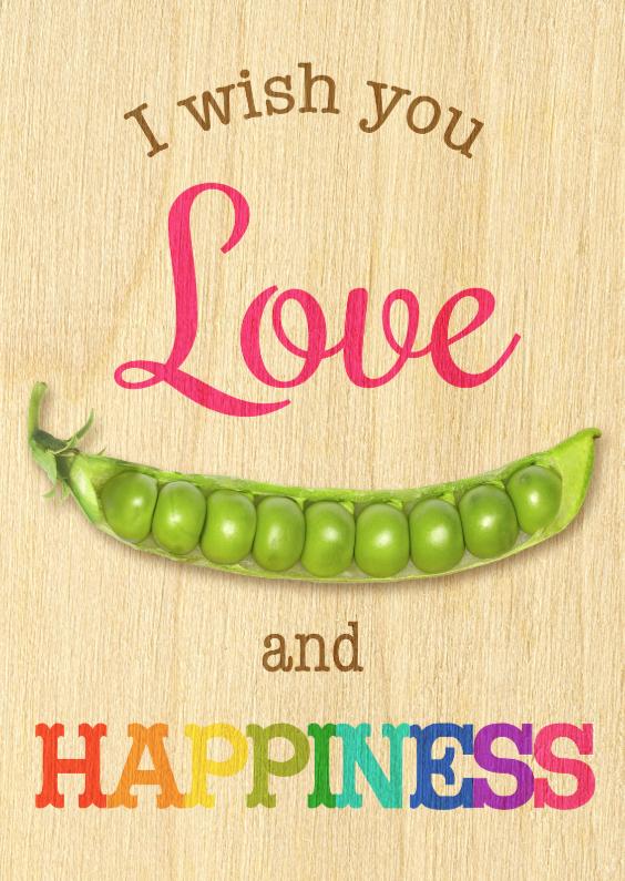 love peas  happiness houtmotief 1