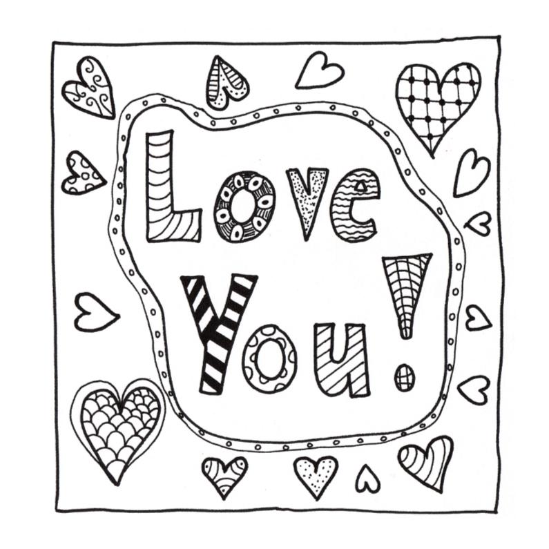 kleurplaten van i love you