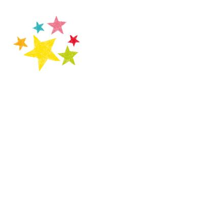 Lovely birthday hart met sterren 2