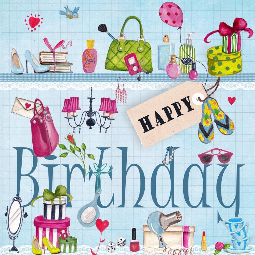 Meiden spullen Happy Birthday Meisje Bl 1