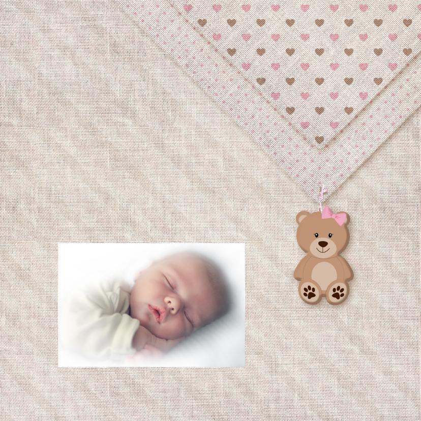 Meisje geboren linnen-print 2