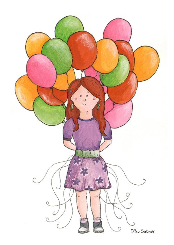 Meisje met ballonnen 1