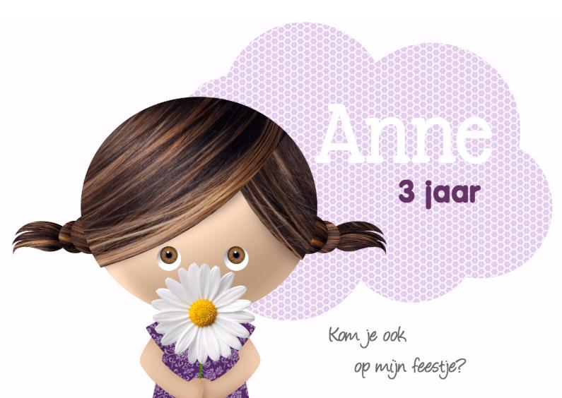 Meisje met bloem 1