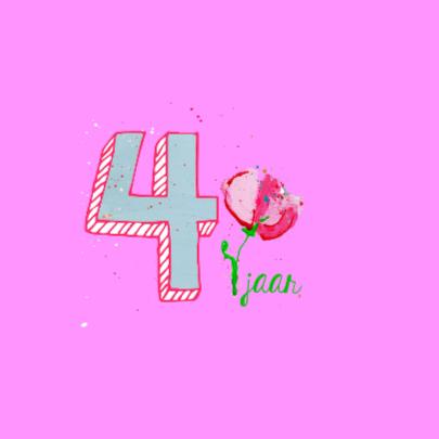 Meisje verjaardag 4 jaar 2