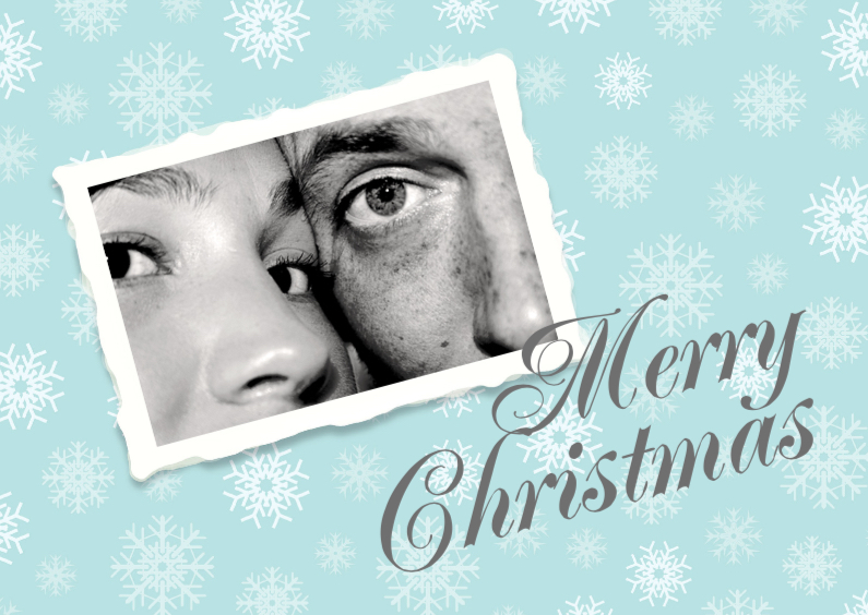 Merry Christmas Snowflakes Foto 1