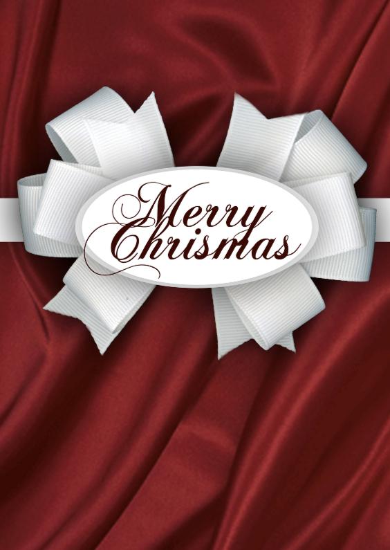 Merry christmas surprise kaartje 1