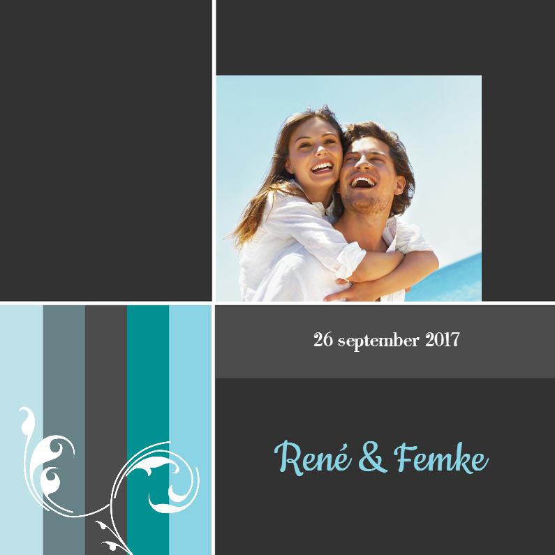 Moderne trouwkaarten met foto 1
