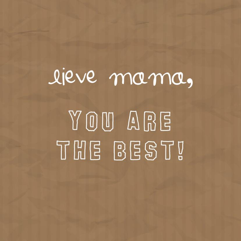 Moederdag - Lieve mama