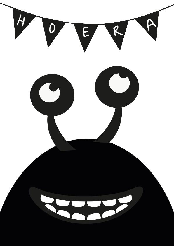 Monster verjaardagskaart 1