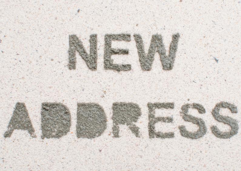 NEW ADDRESS van cement letters 1