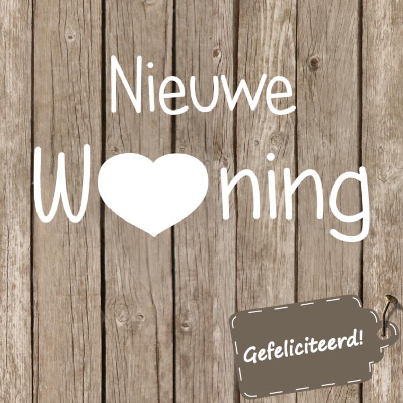 Nieuwe woning hout/label 1