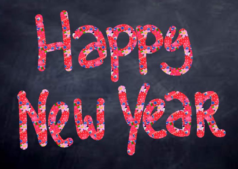 Nieuwjaar Happy New Year 1