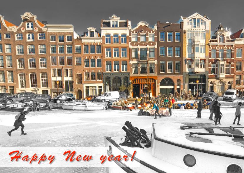 Nieuwjaarskaart- Amsterdams_IJs 1