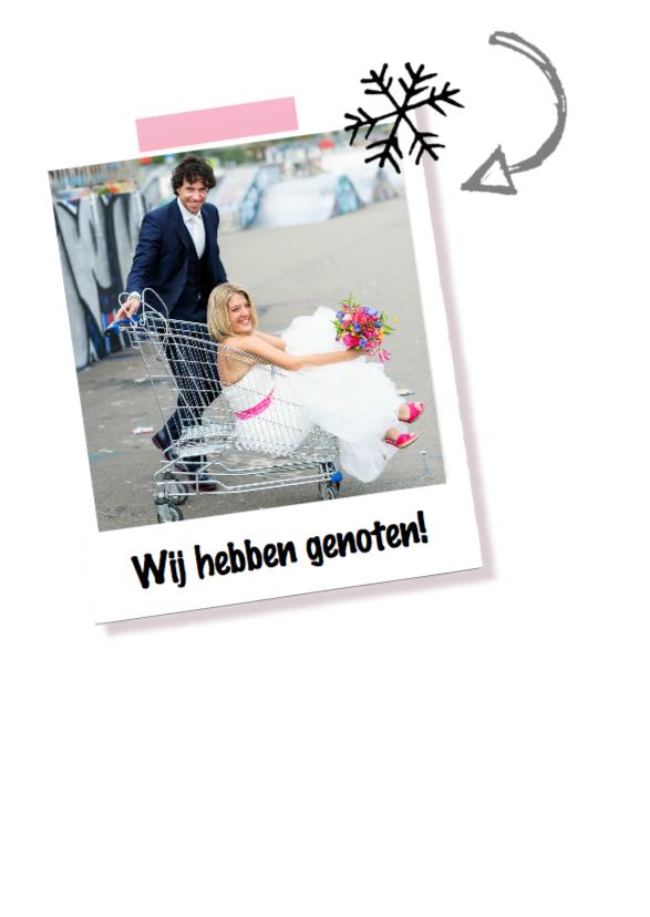 Nieuwjaarskaart bedankje trouwen 2