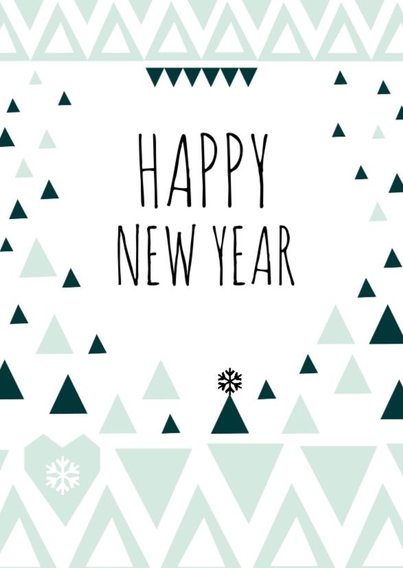 nieuwjaarskaart geometrisch 1