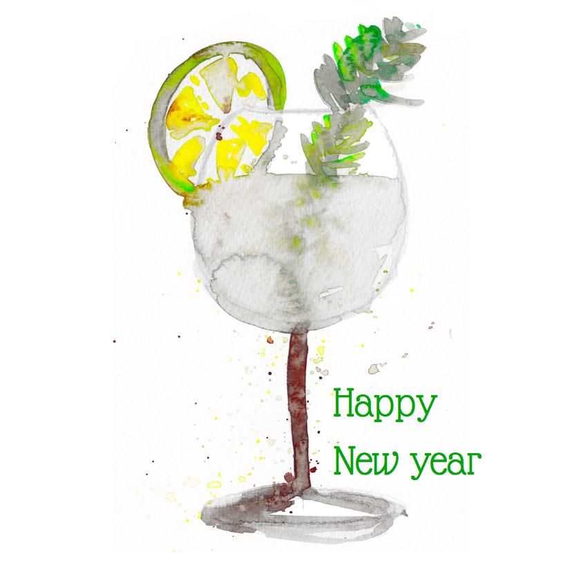 Nieuwjaarskaart Gin Tonic 1