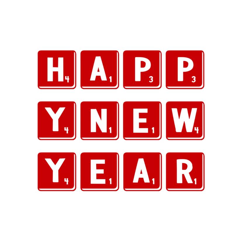 Nieuwjaarskaart happy -LB 1