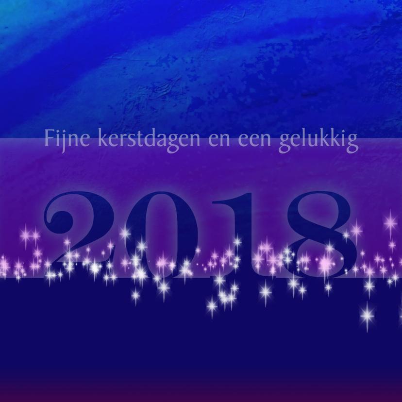Nieuwjaarskaart met veel lichtjes 1