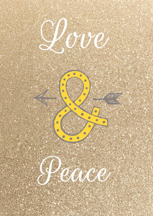 Nieuwjaarskaart tekst Love Peace 1