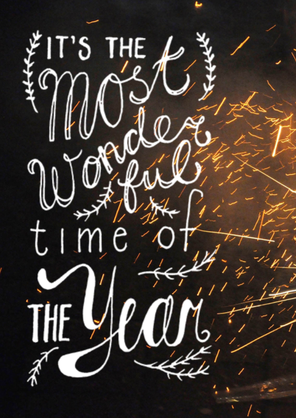Nieuwjaarskaart vuur werk 1