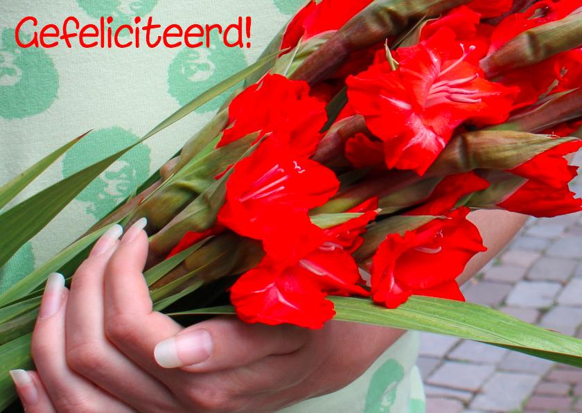 Nijmeegse vierdaagse kaart met gladiolen 1