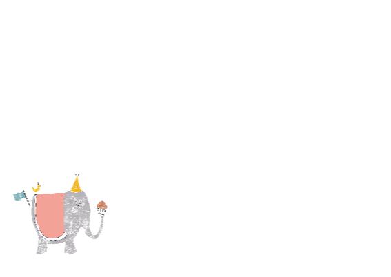 Olifant felicitatiekaart 3
