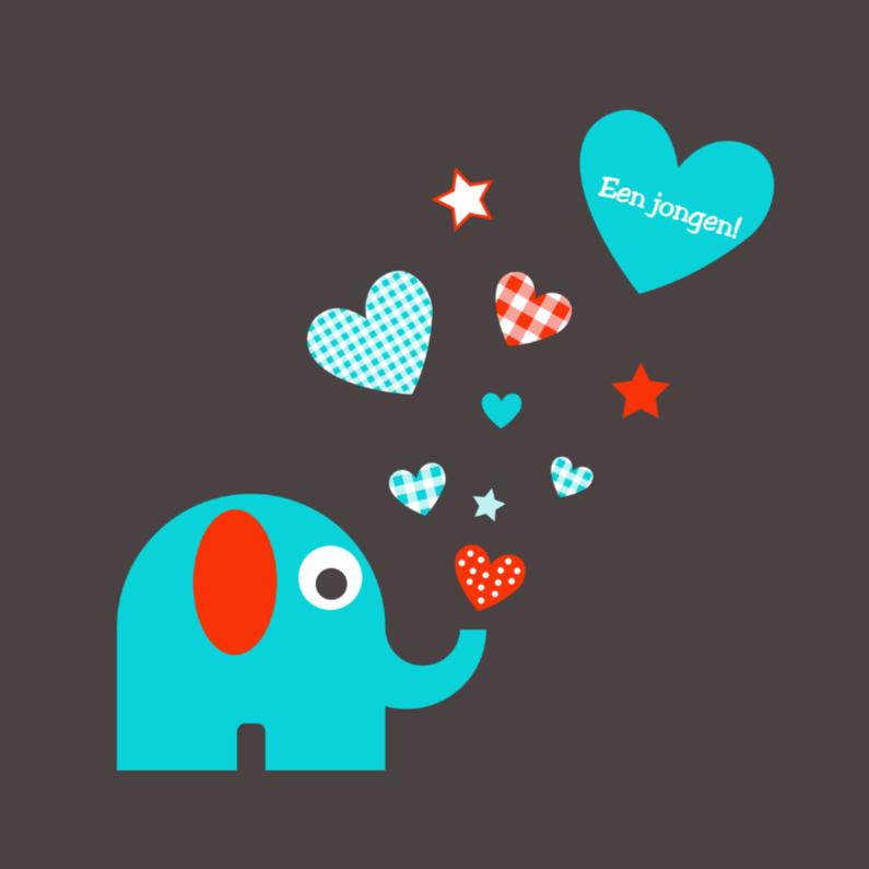 Olifantje met hartjes en sterren 1