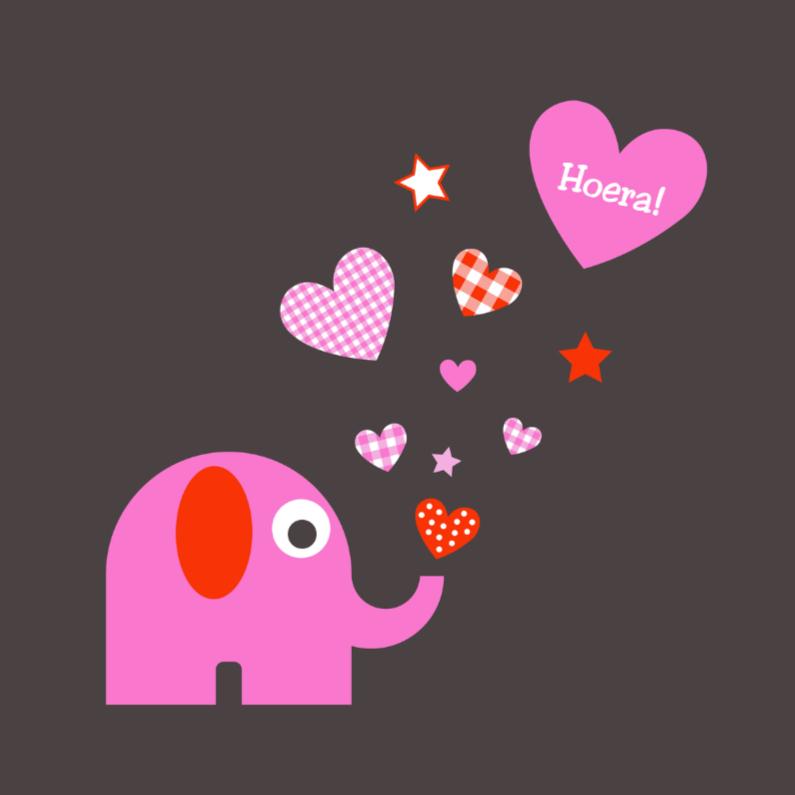 Olifantje met sterren en hartjes 1
