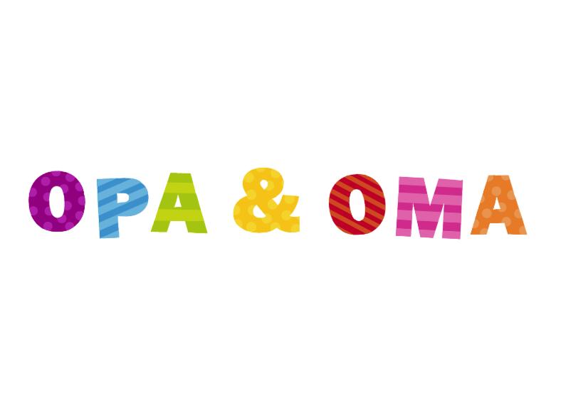 Opa & Oma vrolijke letters 1