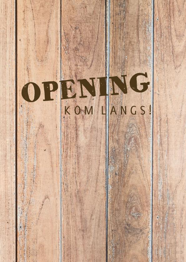 Openingskaart met Steigerhout 2