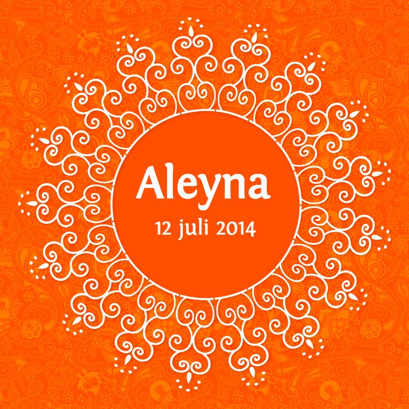 Orientaals Geboortekaartje Aleyna 1