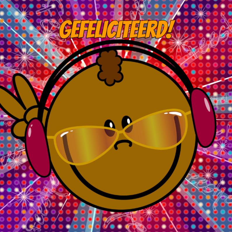 PARTY bruine DJ smiley DISCO 1