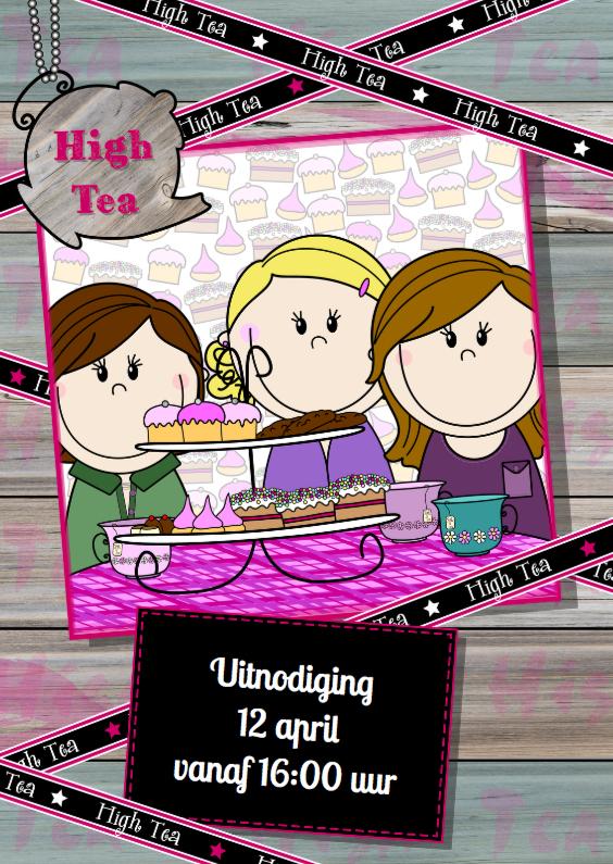 PARTY GIRLS High Tea HOUT lint 1