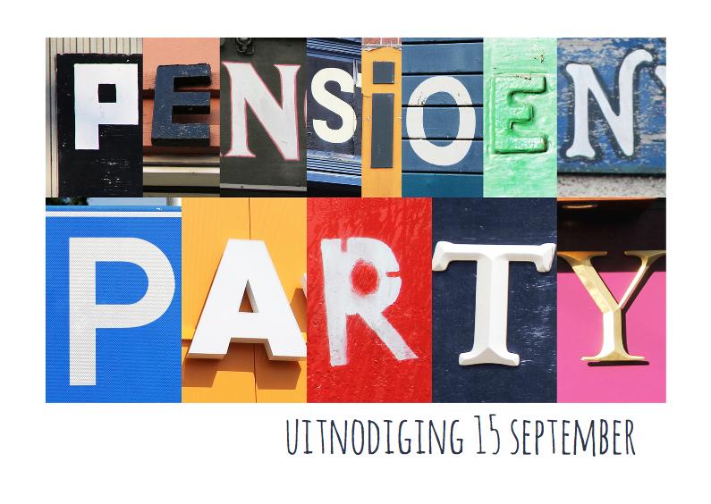 Pensioen party uitnodiging  1