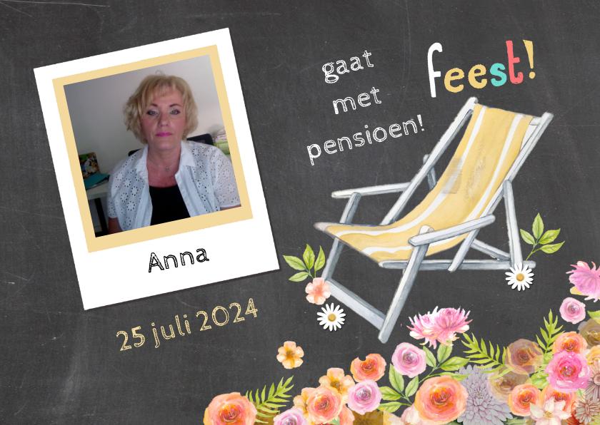 pensioen uitnodiging ligstoel 1