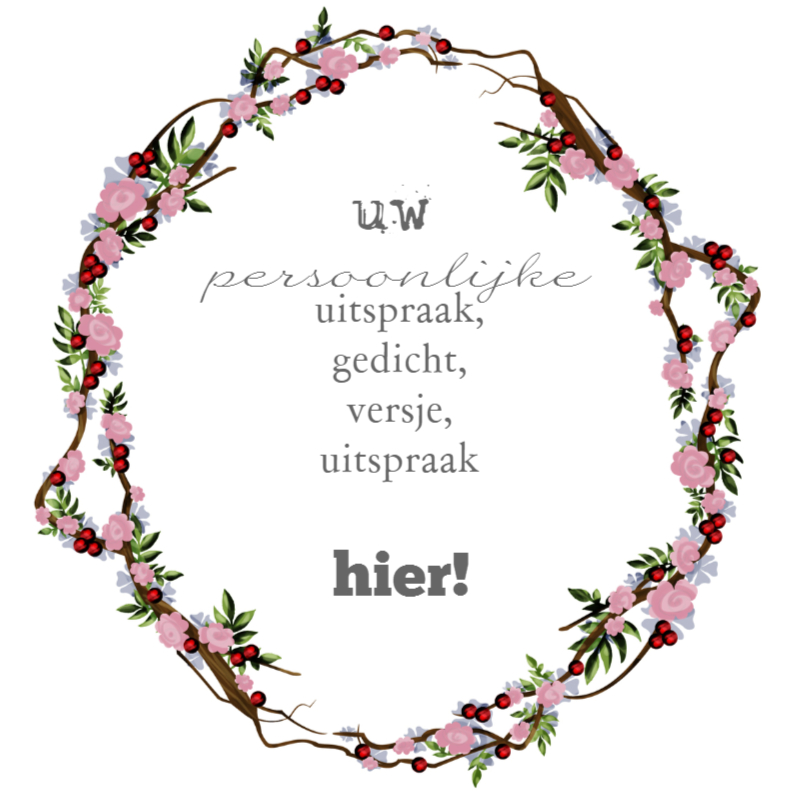 Persoonlijke bloemenkrans roze 1