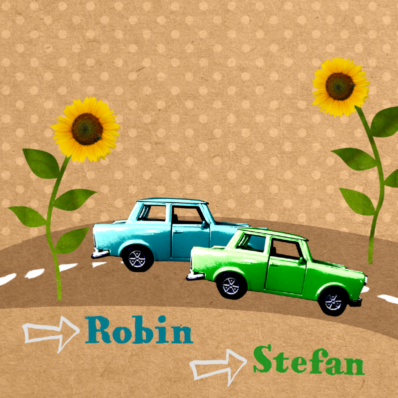 Retro auto tweeling 1